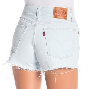 Levi's 501 Buttonfly Distressed Jean Shorts